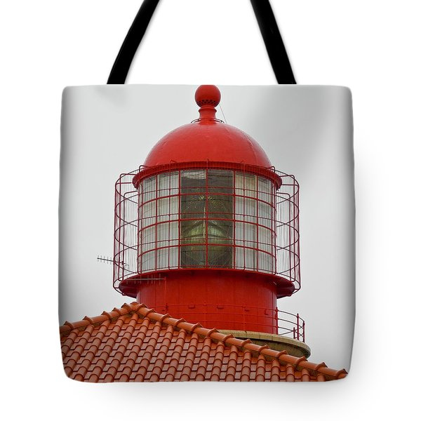 Tote Bag featuring the photograph Cape St. Vicente Lighthouse In Portugal by Kirsten Giving