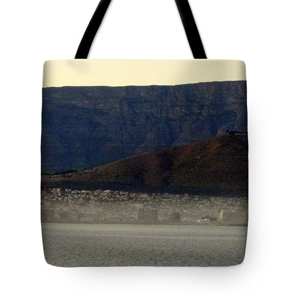 Cape Town Under Table Rock Tote Bag
