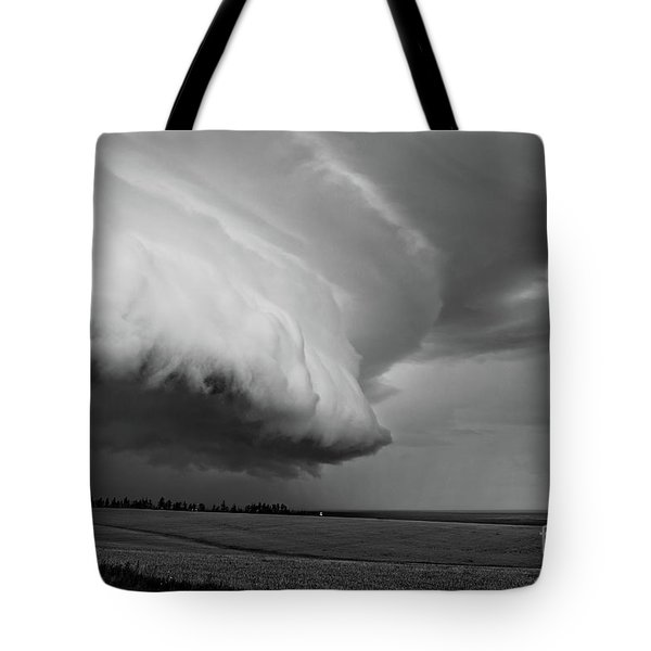 Tote Bag featuring the photograph Cape Tyron Vortex Black And White by Edward Fielding