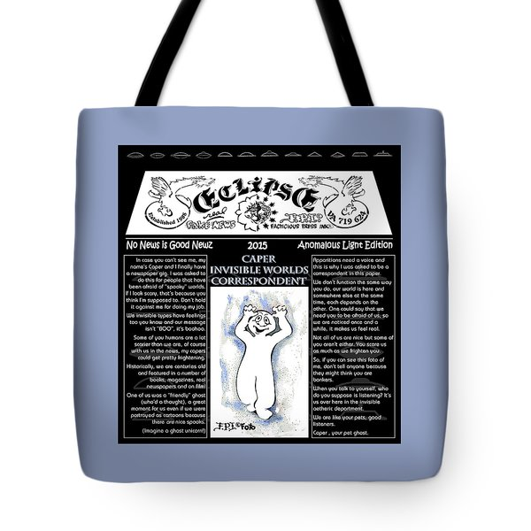Real Fake News Spooky Correspondent 1 Tote Bag