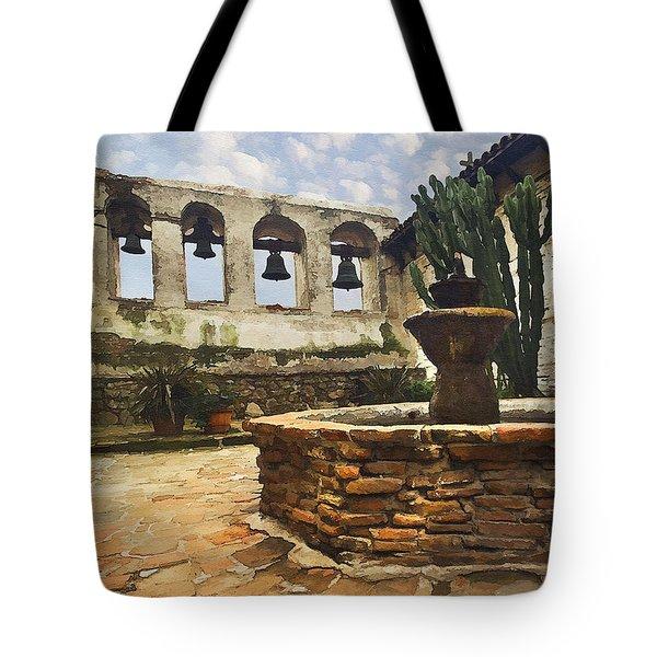 Capistrano Fountain Tote Bag