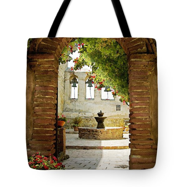 Capistrano Gate Tote Bag by Sharon Foster