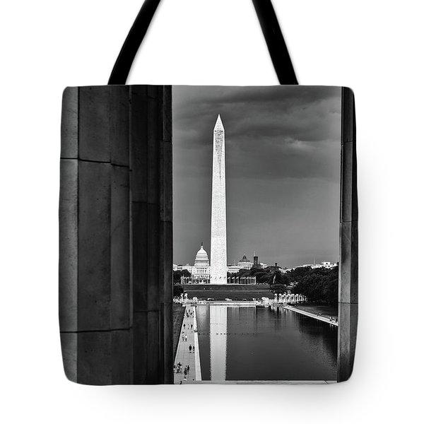 Capita And Washington Monument Tote Bag by Paul Seymour