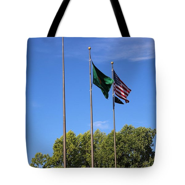 Capital Hill Olympia Washington Flags Tote Bag