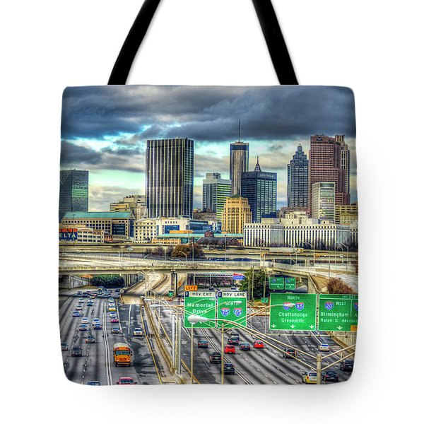 Capital Of The South Atlanta Skyline Cityscape Art Tote Bag