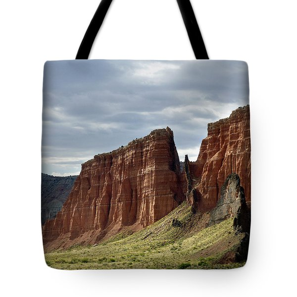 Capital Reef-cathedral Valley 9 Tote Bag by Jeff Brunton
