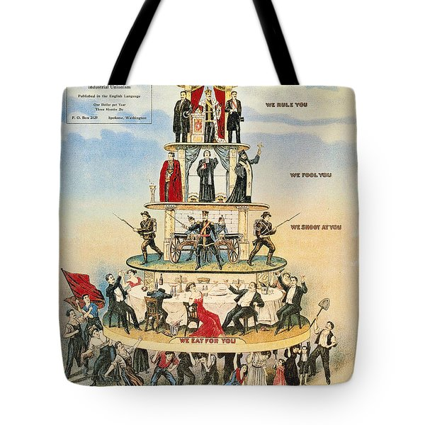 Tote Bag featuring the photograph Capitalist Pyramid, 1911 - To License For Professional Use Visit Granger.com by Granger
