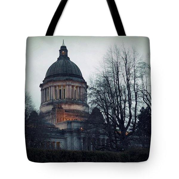 Tote Bag featuring the photograph Capitol Aglow by Patricia Strand