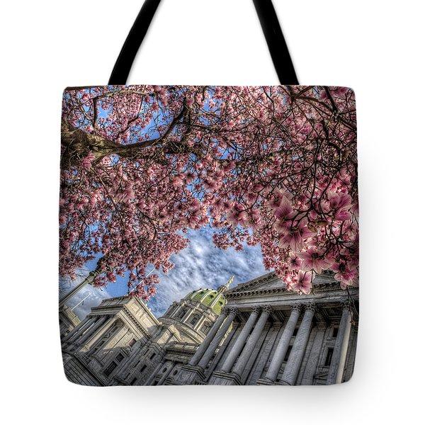 Capitol Blossoms Tote Bag