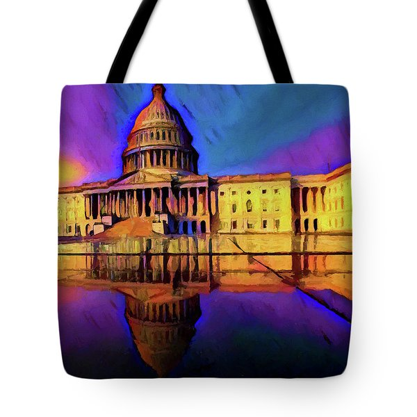 Capitol Building Reflection Tote Bag