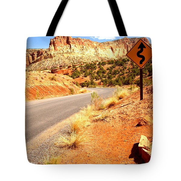 Tote Bag featuring the photograph Capitol Curves Ahead by Adam Jewell
