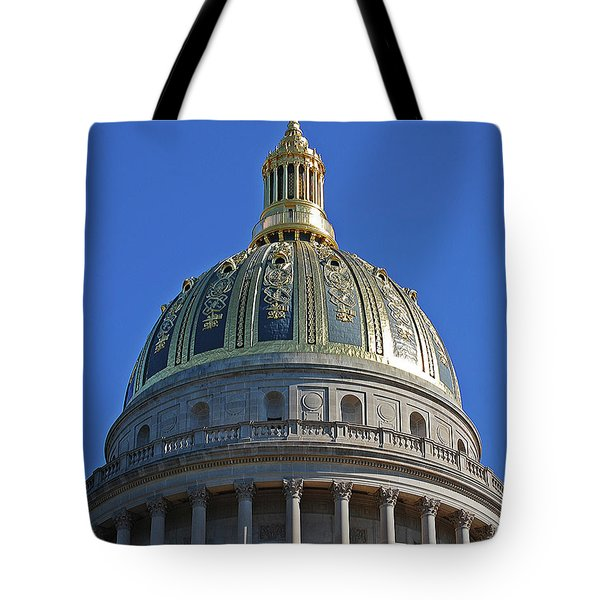 Capitol Dome Charleston Wv Tote Bag by DigiArt Diaries by Vicky B Fuller