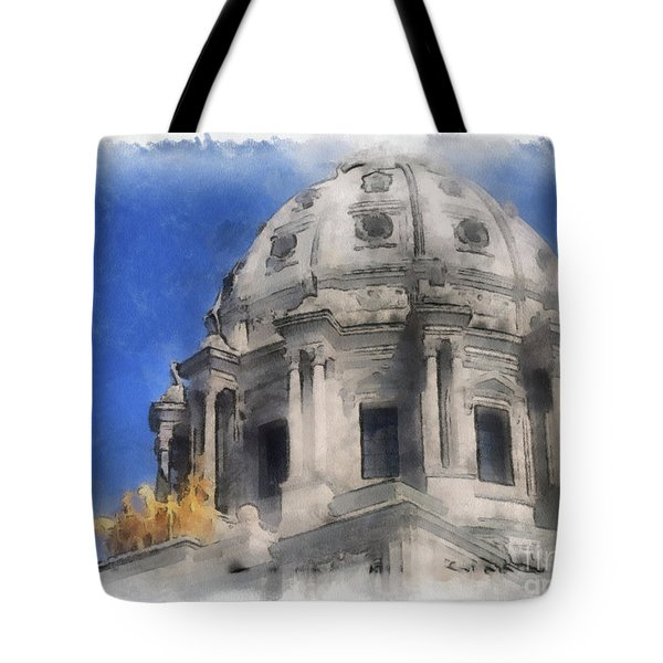 Capitol Dome St Paul Minnesota Tote Bag