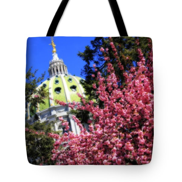 Capitol In Bloom Tote Bag