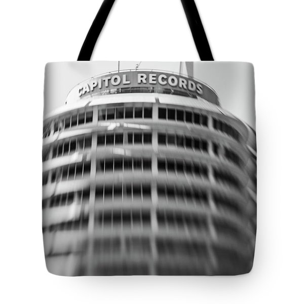 Tote Bag featuring the photograph Capitol Records Building 18 by Micah May