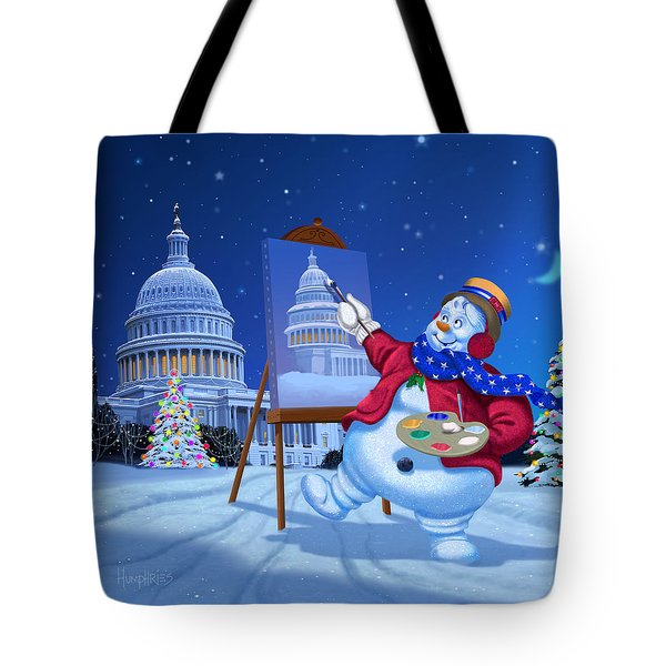 Capitol Snoman Tote Bag by Michael Humphries