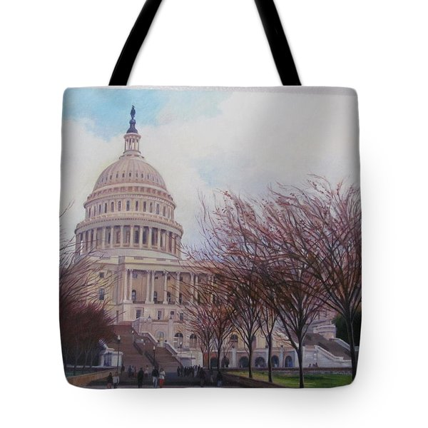 Capitol View Tote Bag by German Zepeda