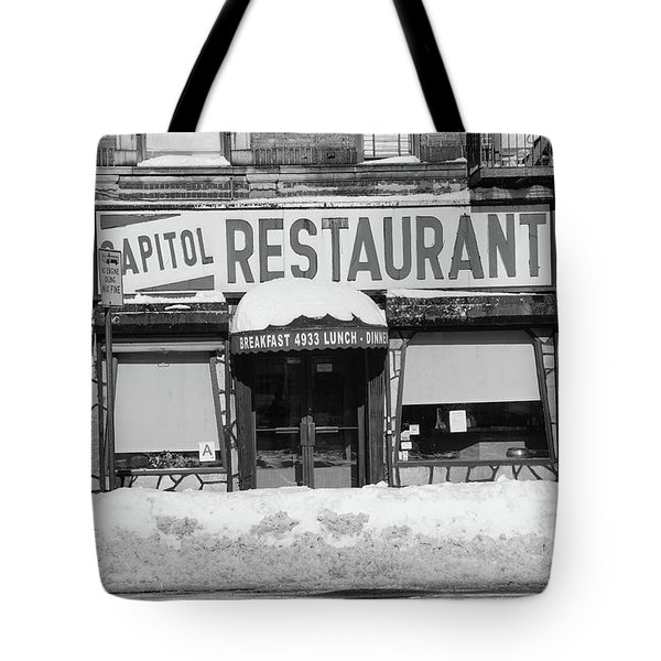 Capitol Winter Tote Bag by Cole Thompson