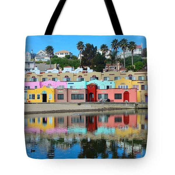 Capitola California Colorful Hotel Tote Bag