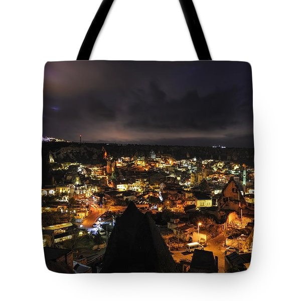 Tote Bag featuring the photograph Cappadocia By Night by Yuri Santin