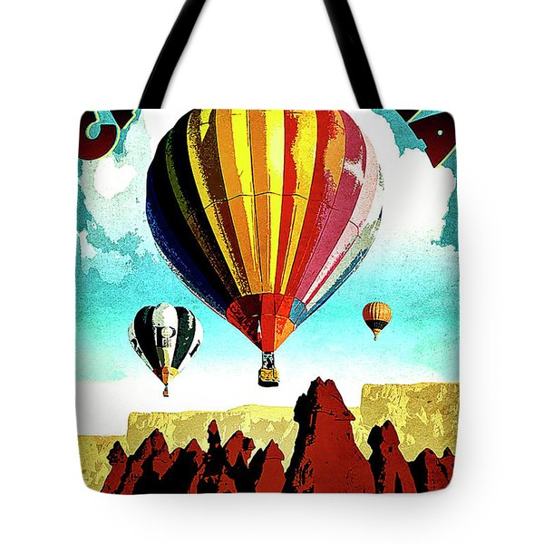 Cappadocia, Turkey, Hot Air Balloons Tote Bag