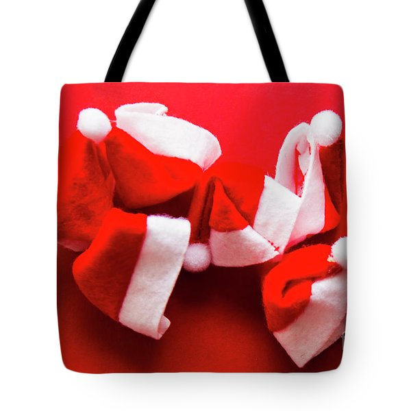 Capping Off A Merry Christmas Tote Bag