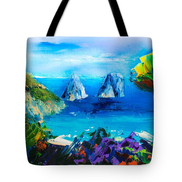 Capri Colors Tote Bag