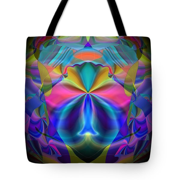 Tote Bag featuring the digital art Caprice by Lynda Lehmann