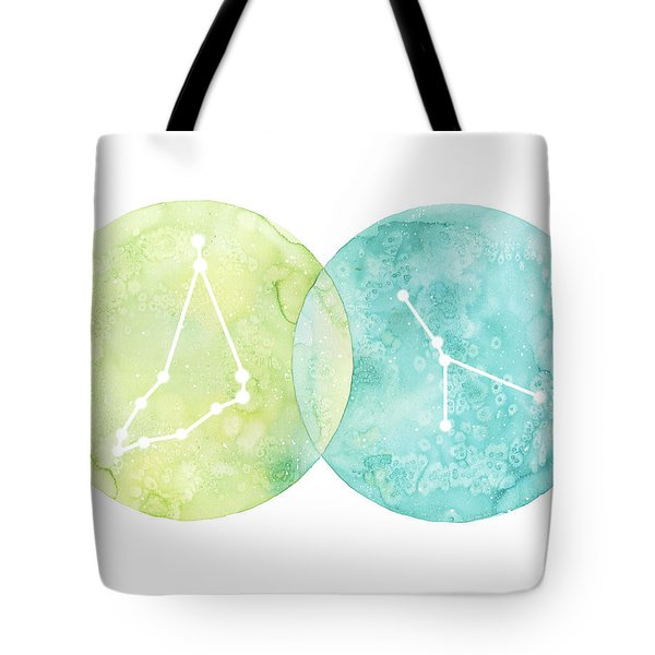 Capricorn And Cancer Tote Bag
