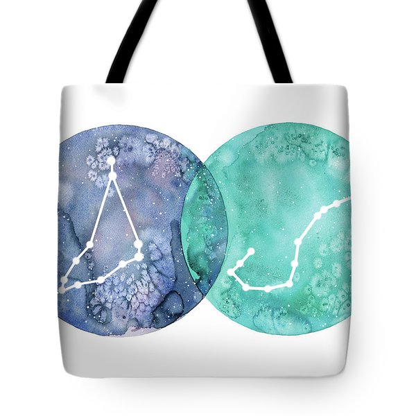 Capricorn And Scorpio Tote Bag