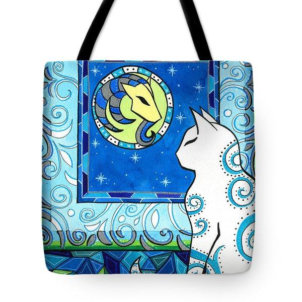 Capricorn Cat Zodiac Tote Bag
