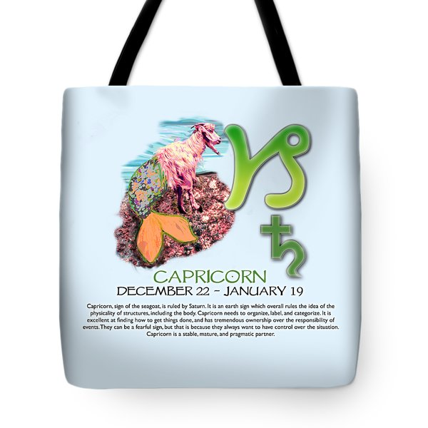 Capricorn Sun Sign Tote Bag