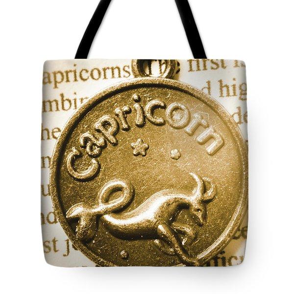Capricorn Zodiac Lucky Charm Tote Bag