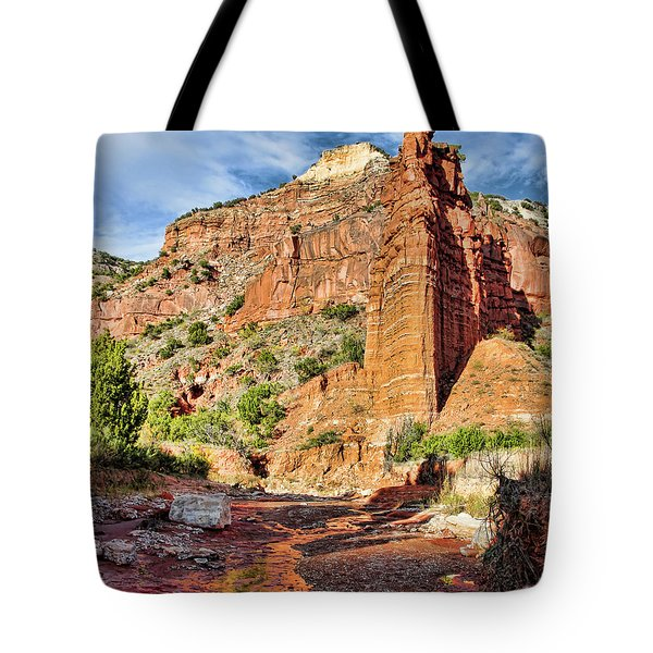 Caprock Canyon Cliff Tote Bag