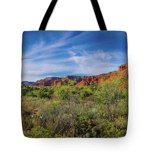 Caprock Canyon Panorama 2 Tote Bag