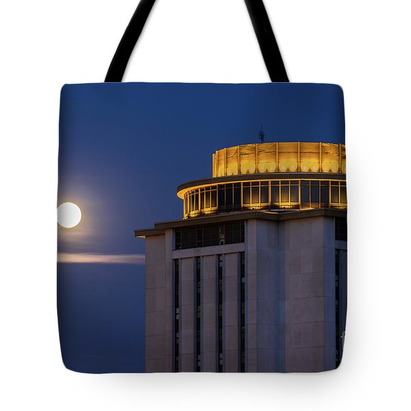 Capstone House And Full Moon Tote Bag