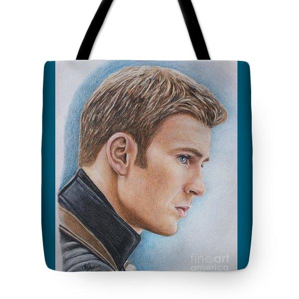 Captain America / Chris Evans Tote Bag