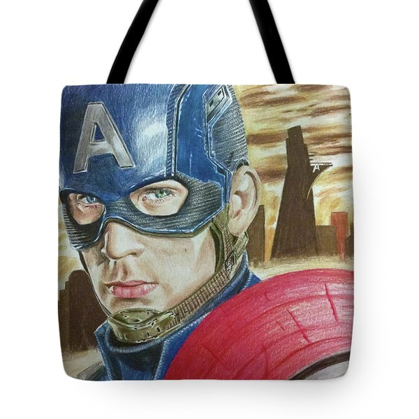 Captain America Tote Bag by Michael McKenzie