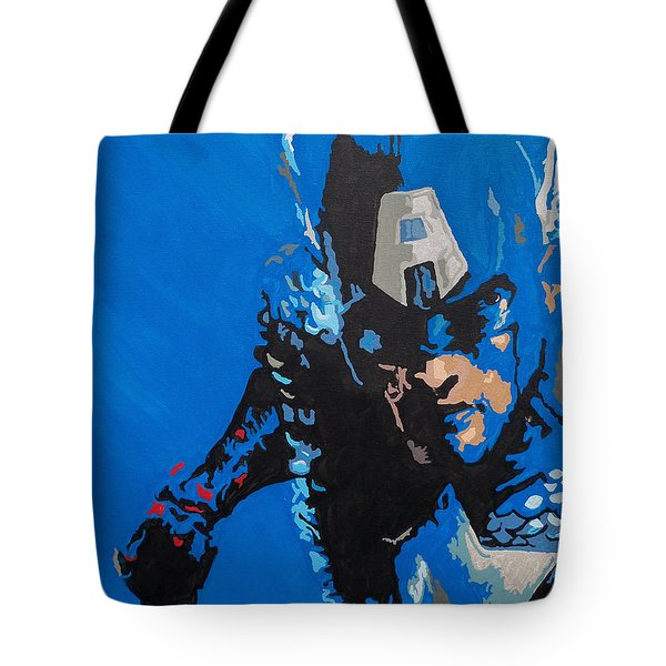 Captain America - Out Of The Blue  Tote Bag by Kelly Hartman
