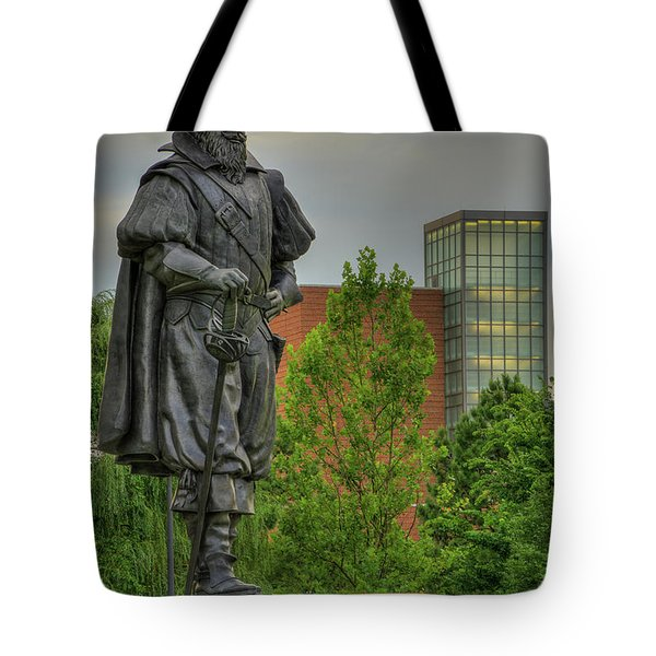 Captain Christopher Newport Tote Bag