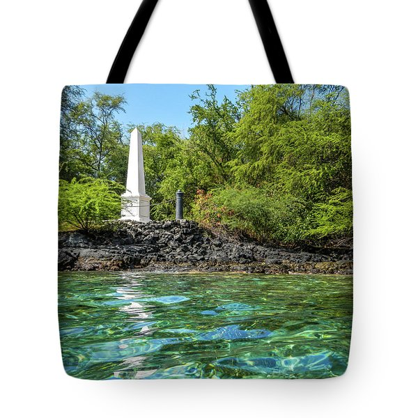 Captain Cook Monument Tote Bag