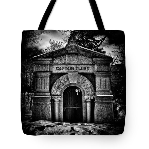 Tote Bag featuring the photograph Captain Fluke Mausoleum Mount Pleasant Cemetery Toronto Canada by Brian Carson