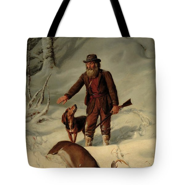 Captain Parker, Still Hunting In The Snow Tote Bag