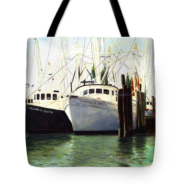 Captains Smith Morehead City North Carolina Original Fine Art Oil Painting Tote Bag