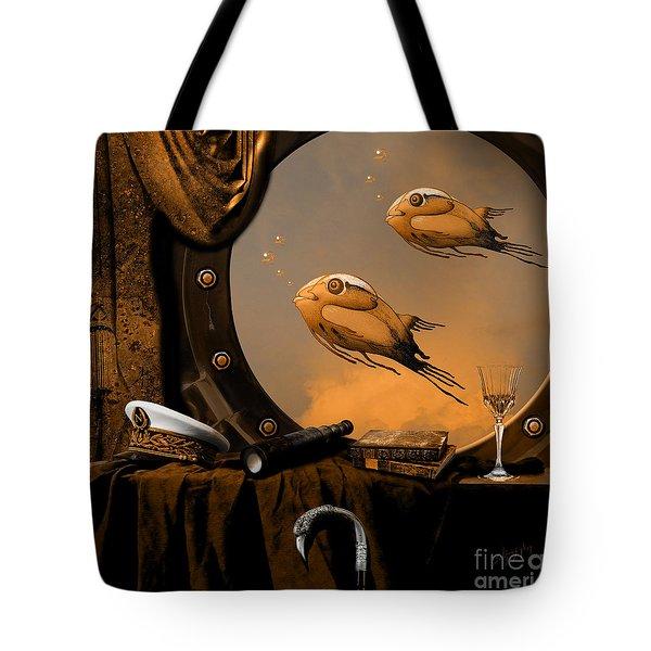 Tote Bag featuring the digital art Captan Nemo's Room by Alexa Szlavics