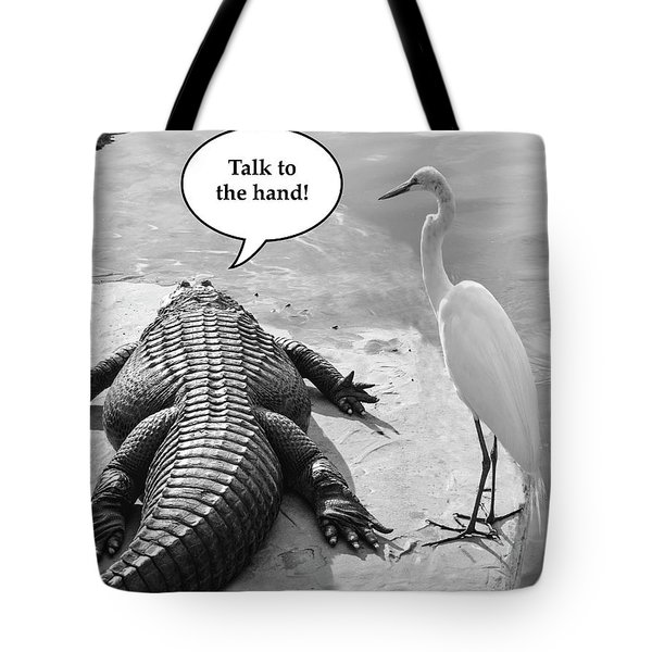 Captions Tote Bag