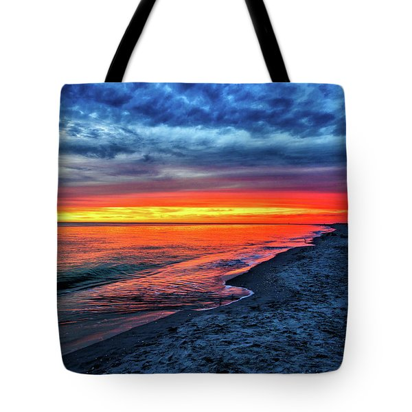 Tote Bag featuring the photograph Captiva Island Sunset by Louis Dallara