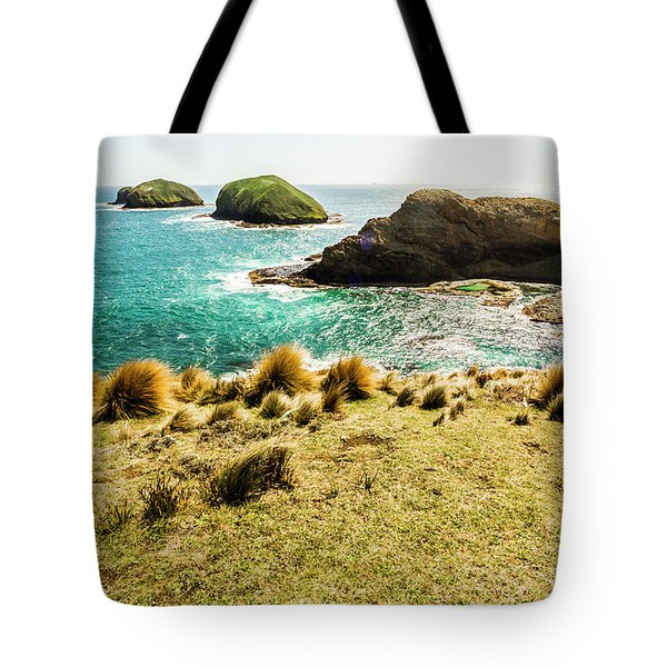 Captivating Coastal Cliff Tote Bag
