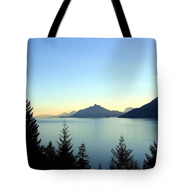 Captivating Howe Sound Tote Bag by Will Borden