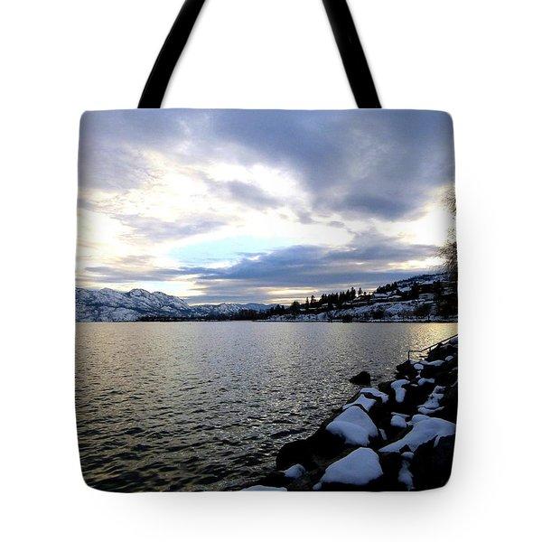 Captivating Okanagan Lake Tote Bag by Will Borden
